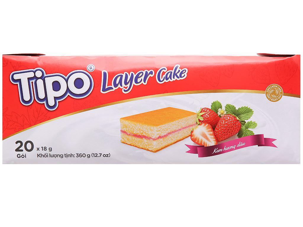 Bánh bông lan hương dâu Tipo hộp 360g 2