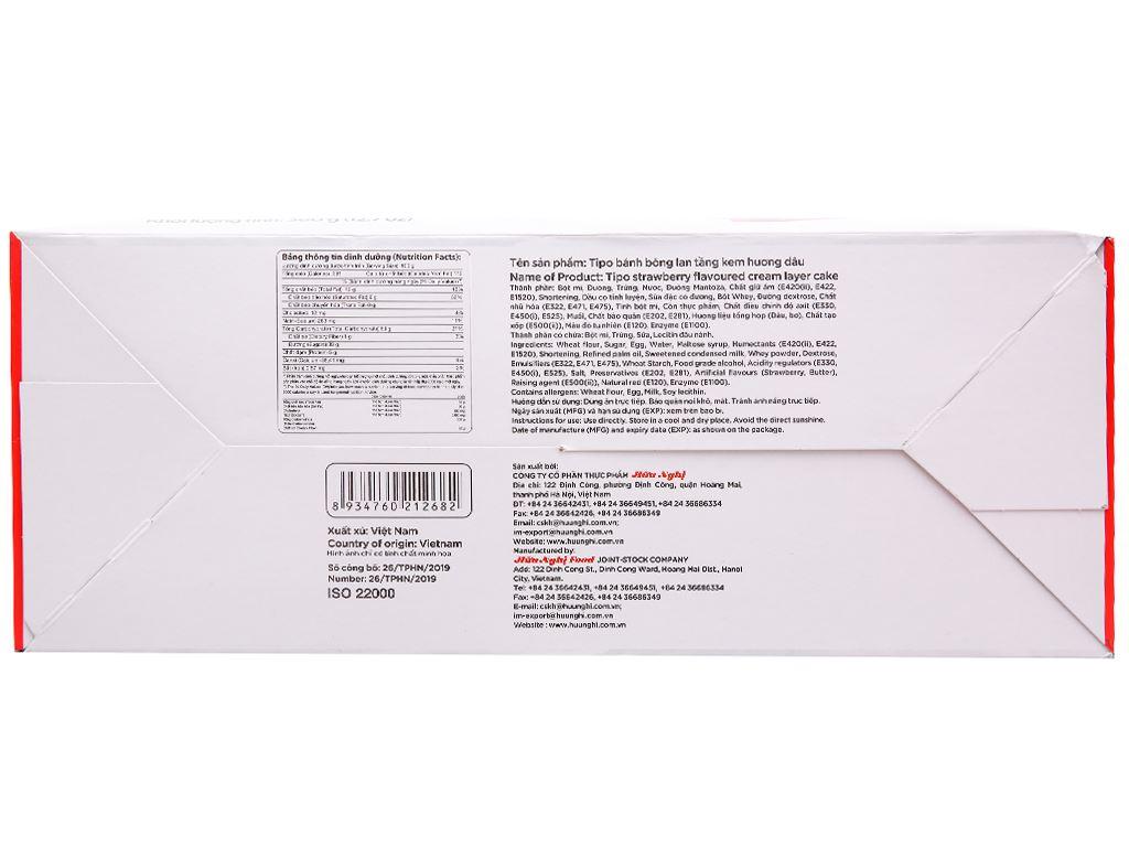 Bánh bông lan hương dâu Tipo hộp 360g 3