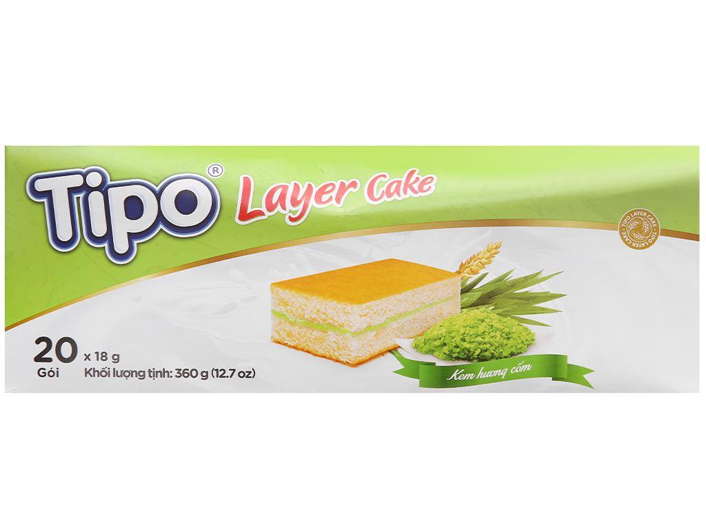 Bánh bông lan hương cốm Tipo hộp 360g 2