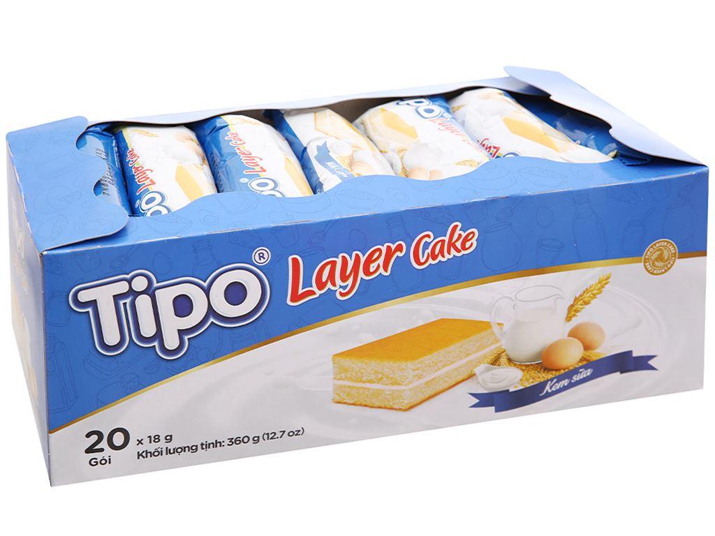 Bánh bông lan kem sữa Tipo hộp 360g 1