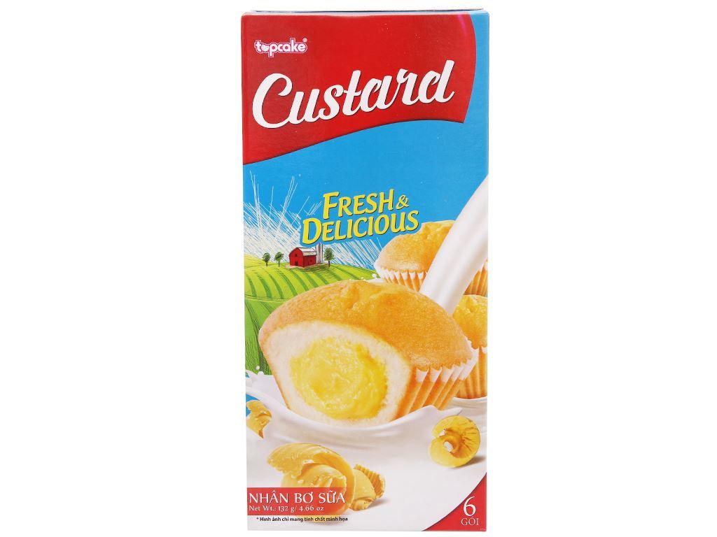 Bánh bông lan bơ sữa Custard hộp 132g (6 cái) 1