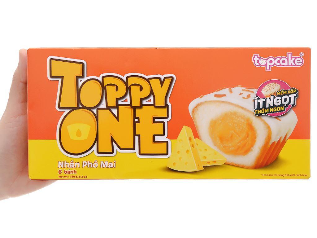 Bánh phủ socola trắng nhân phô mai Toppy One hộp 180g (6 cái) 2
