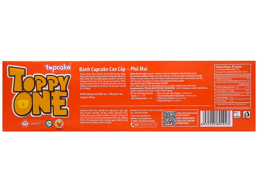 Bánh phủ socola trắng nhân phô mai Toppy One hộp 180g (6 cái) 3