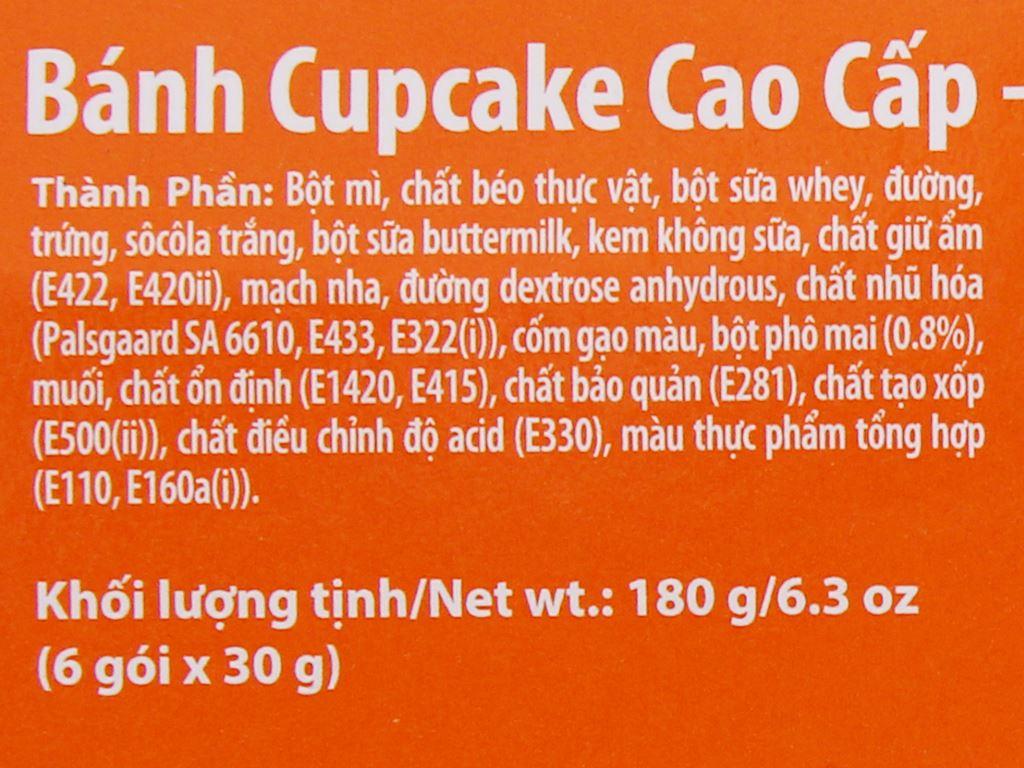 Bánh phủ socola trắng nhân phô mai Toppy One hộp 180g (6 cái) 5