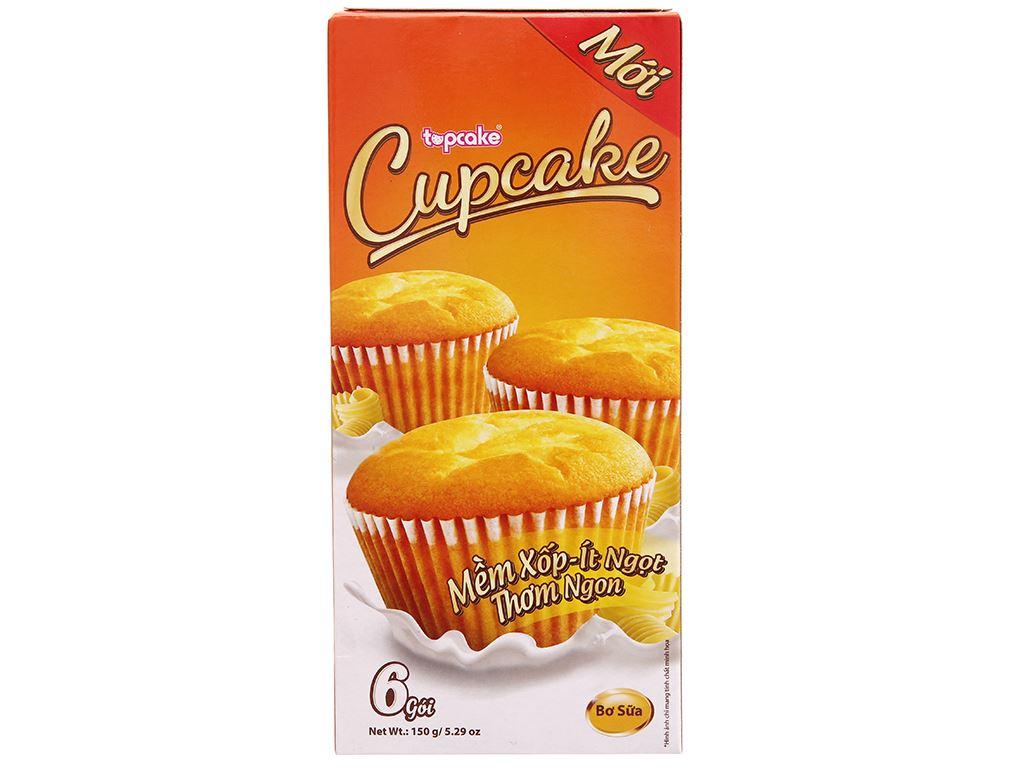 Bánh bông lan bơ sữa Cupcake hộp 150g (6 cái) 1