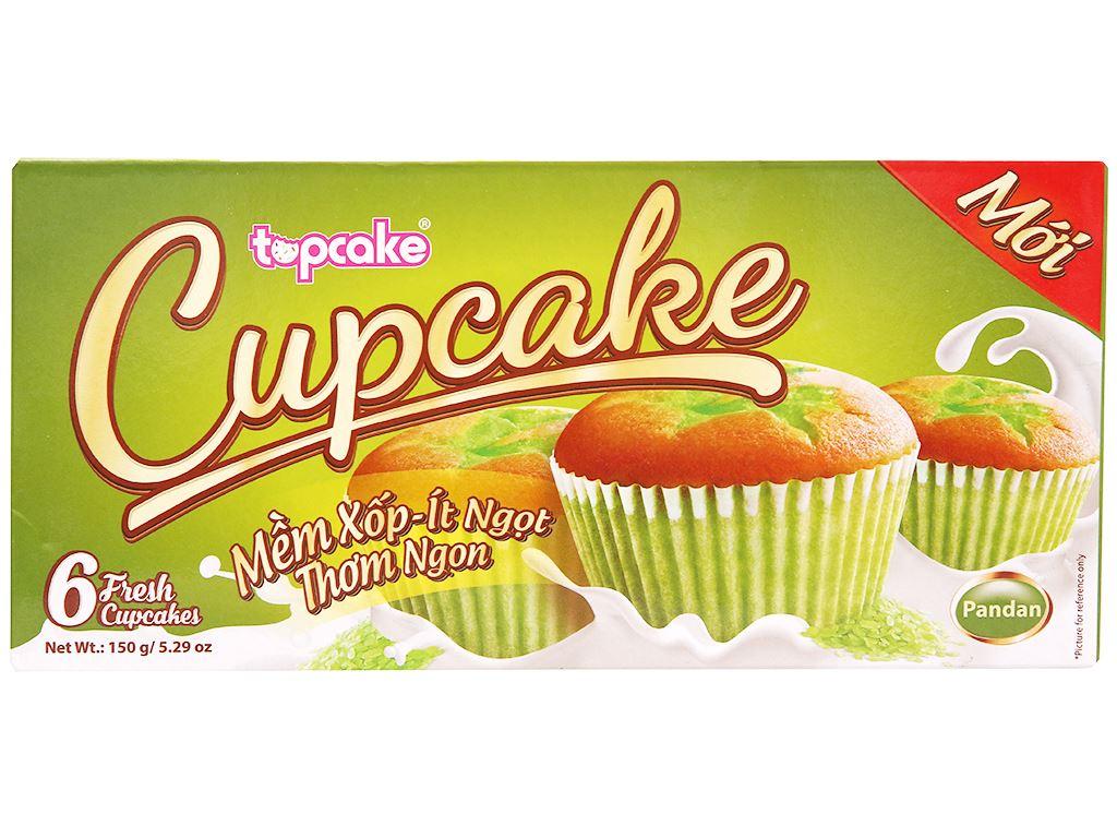 Bánh bông lan hương cốm Cupcake hộp 150g (6 cái) 1