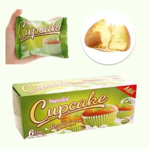 Bánh bông lan hương cốm Cupcake hộp 150g (6 cái)