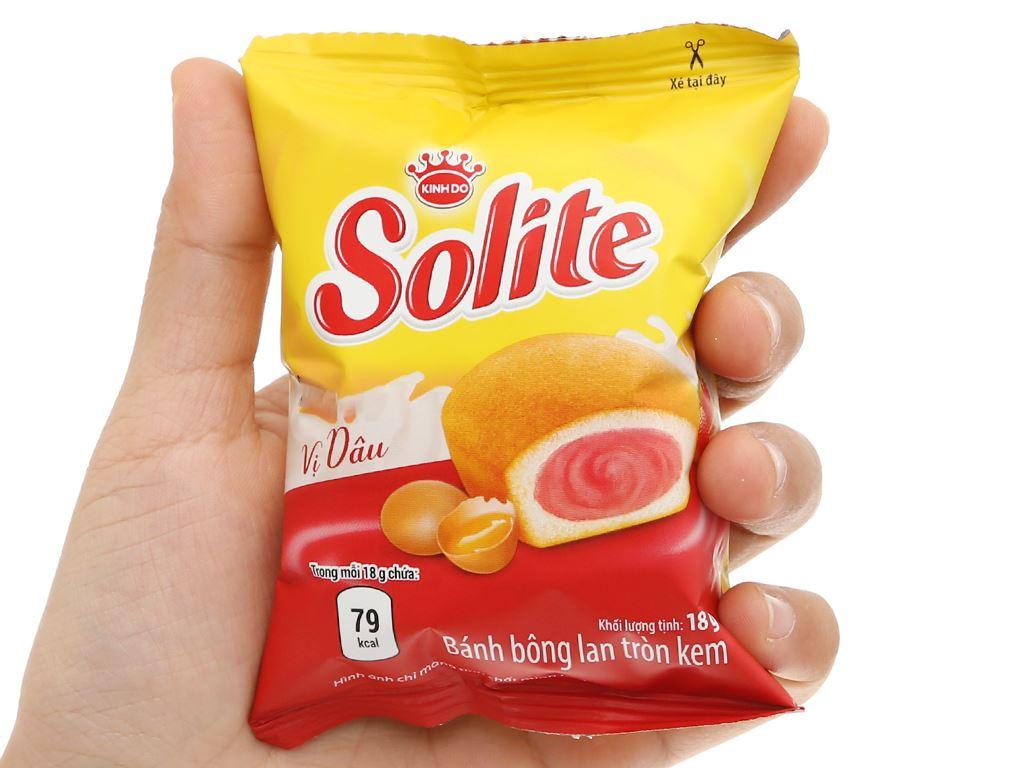 Bánh bông lan tròn kem vị dâu Solite hộp 36g (2 cái) 6