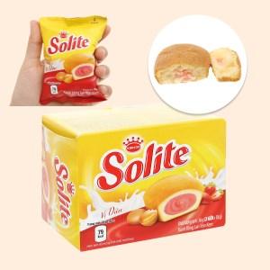 Bánh bông lan tròn kem vị dâu Solite hộp 36g (2 cái)