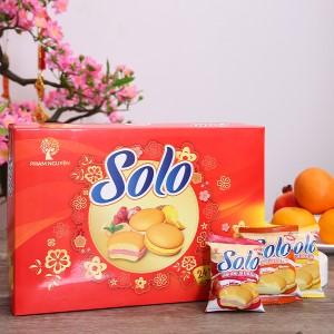 Bánh bông lan kem hỗn hợp 3 mùi Solo hộp 336g