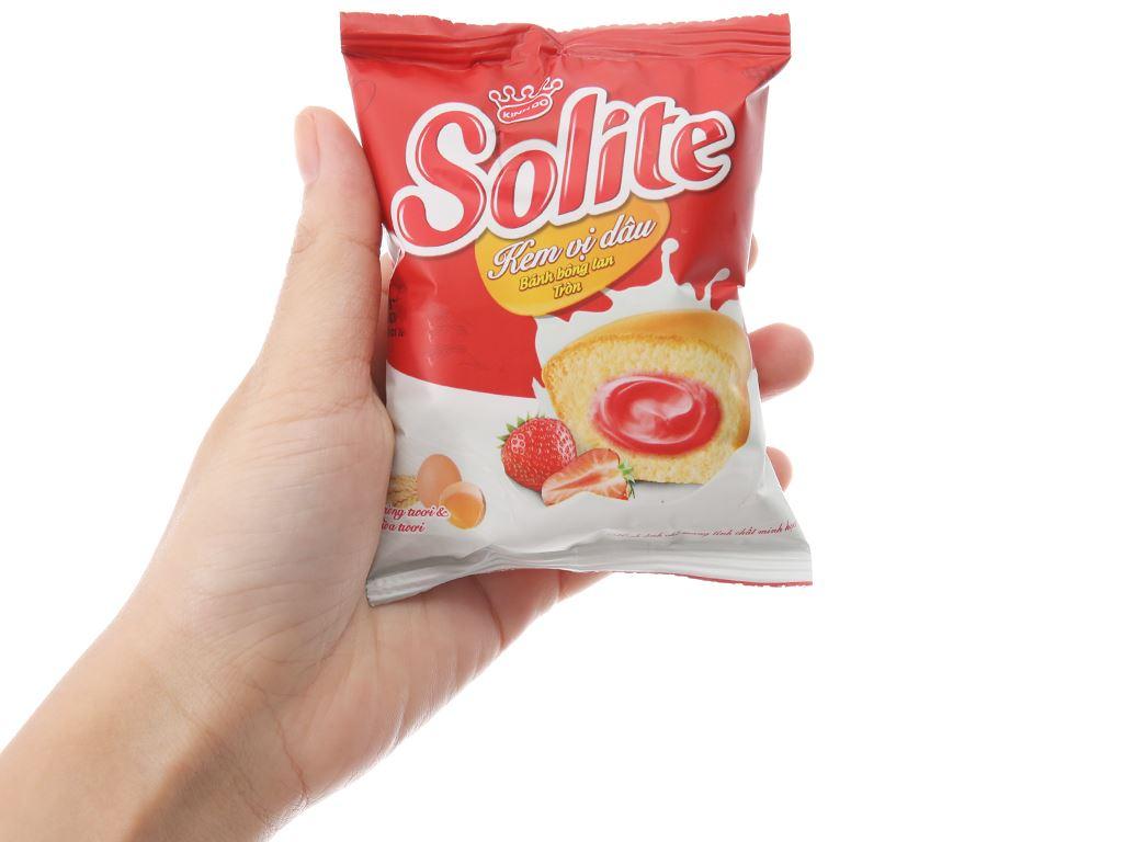 Bánh bông lan kem vị dâu Solite hộp 360g (20 cái) 4