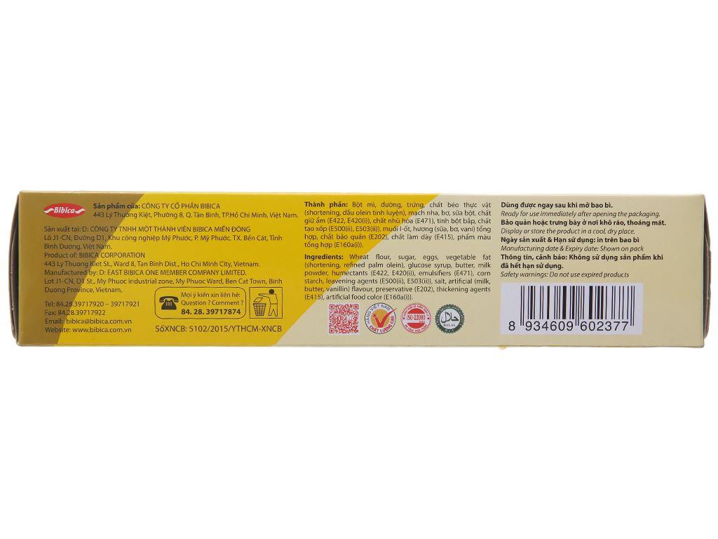 Bánh bông lan hương bơ sữa Hura Deli hộp 168g (6 cái) 3