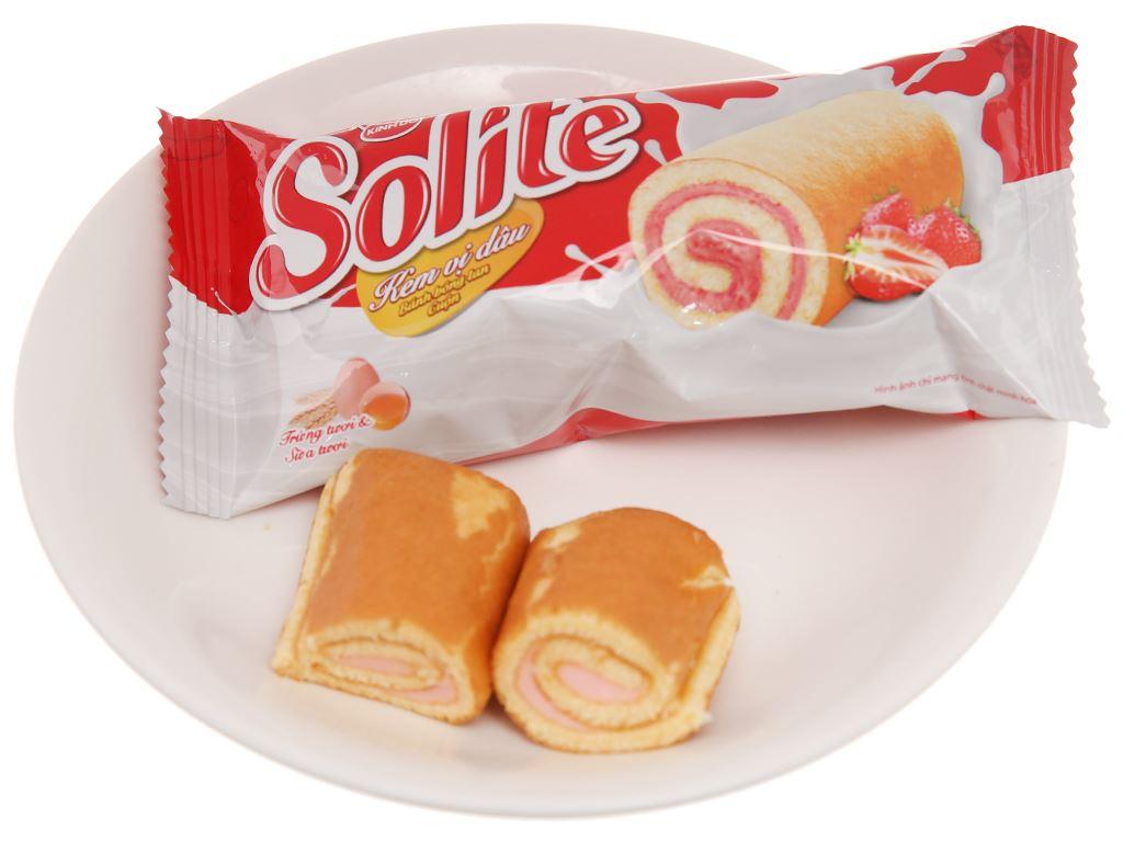 Bánh bông lan cuộn kem vị dâu Solite hộp 360g (20 cái) 5