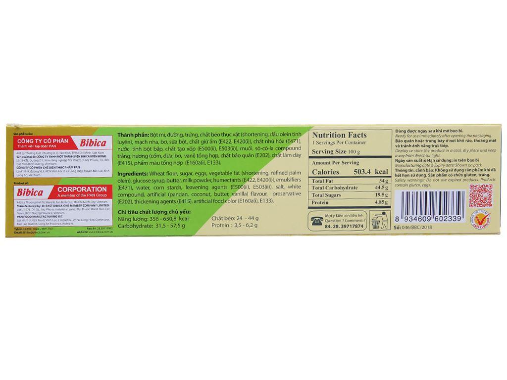 Bánh bông lan hương cốm dừa Hura hộp 168g (6 cái) 2