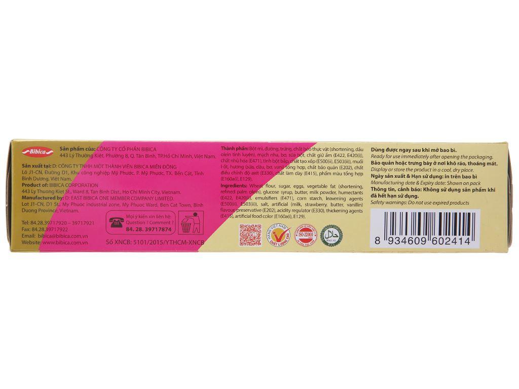 Bánh bông lan hương sữa dâu Hura Deli hộp 168g (6 cái) 3