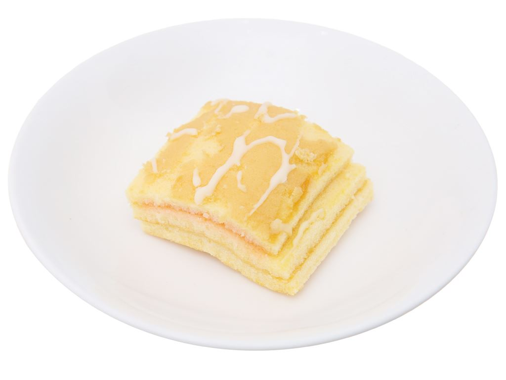 Bánh bông lan hương sữa dâu Hura Deli hộp 168g (6 cái) 5