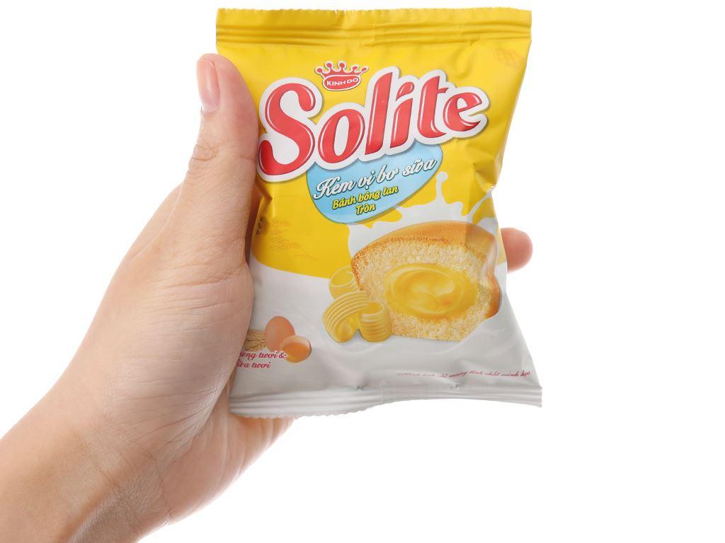 Bánh bông lan kem vị bơ sữa Solite hộp 360g (20 cái) 4