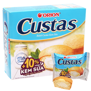 Bánh kem sữa Custas hộp 282g (12 cái)