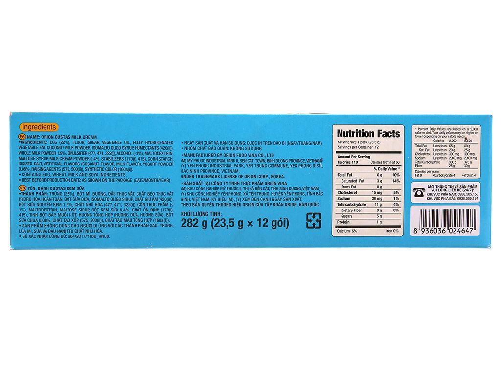 Bánh kem sữa Custas hộp 282g (12 cái) 3