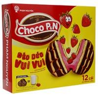 Bánh bông lan Choco P&N dâu gói 264g