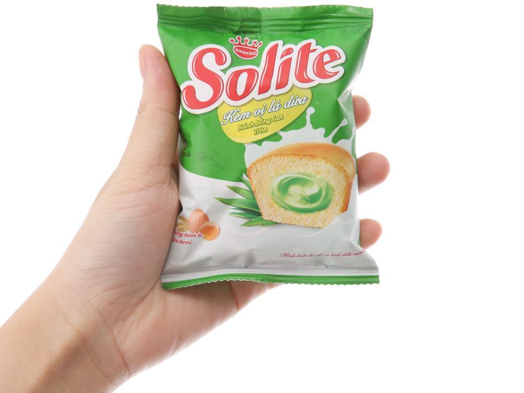 Hộp 20 bánh bông lan kem vị lá dứa Solite 18g 4