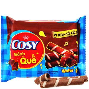 Bánh quế vị kem sô cô la Cosy gói 48g