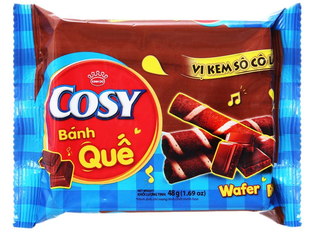 Bánh quế vị kem sô cô la Cosy gói 48g 1