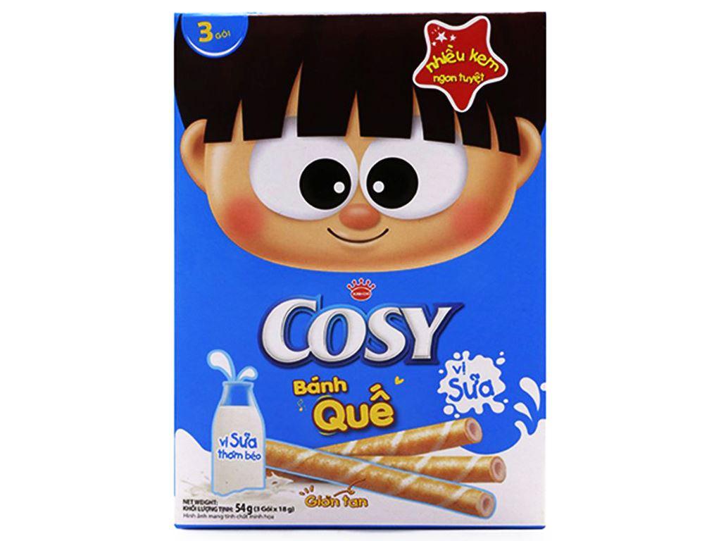 Bánh quế vị sữa Cosy hộp 54g 1