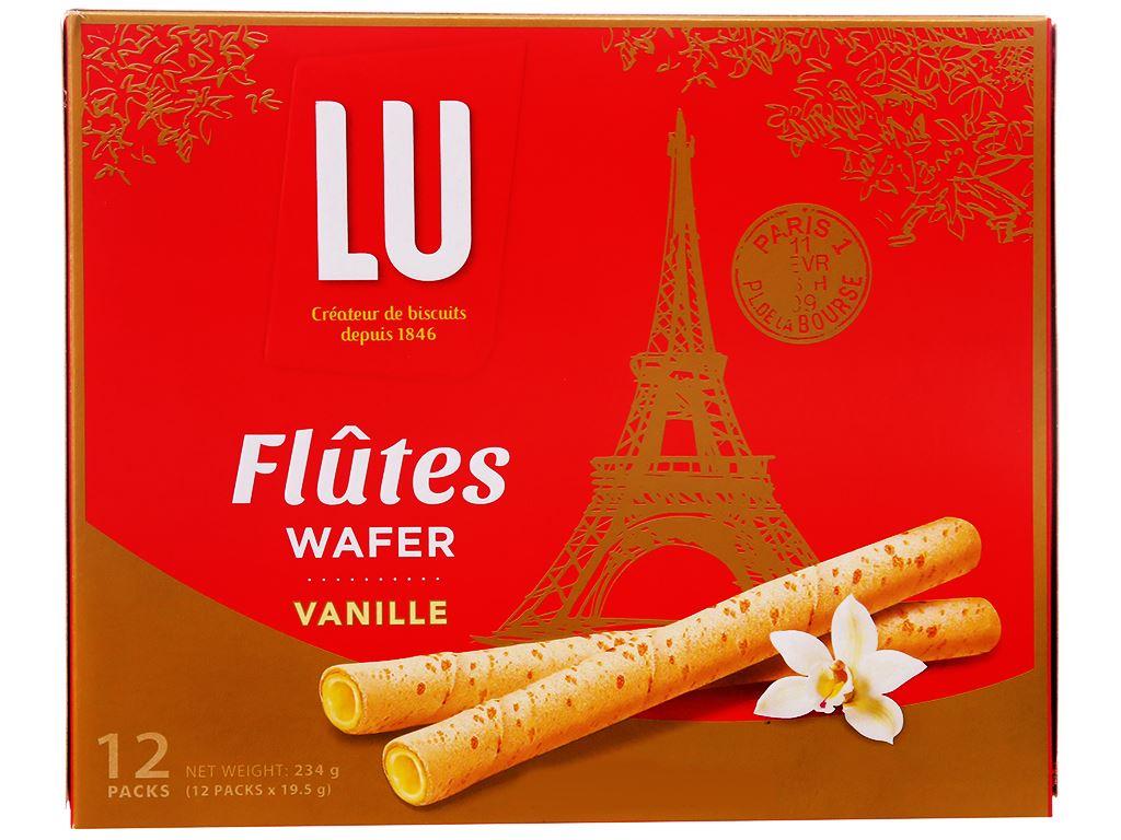 Hộp 12 gói bánh quế vani Flutes Wafer Lu 19.5g 1