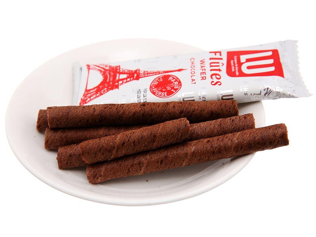 Hộp 5 gói bánh quế sô cô la Flutes Wafer Lu 19.5g 4