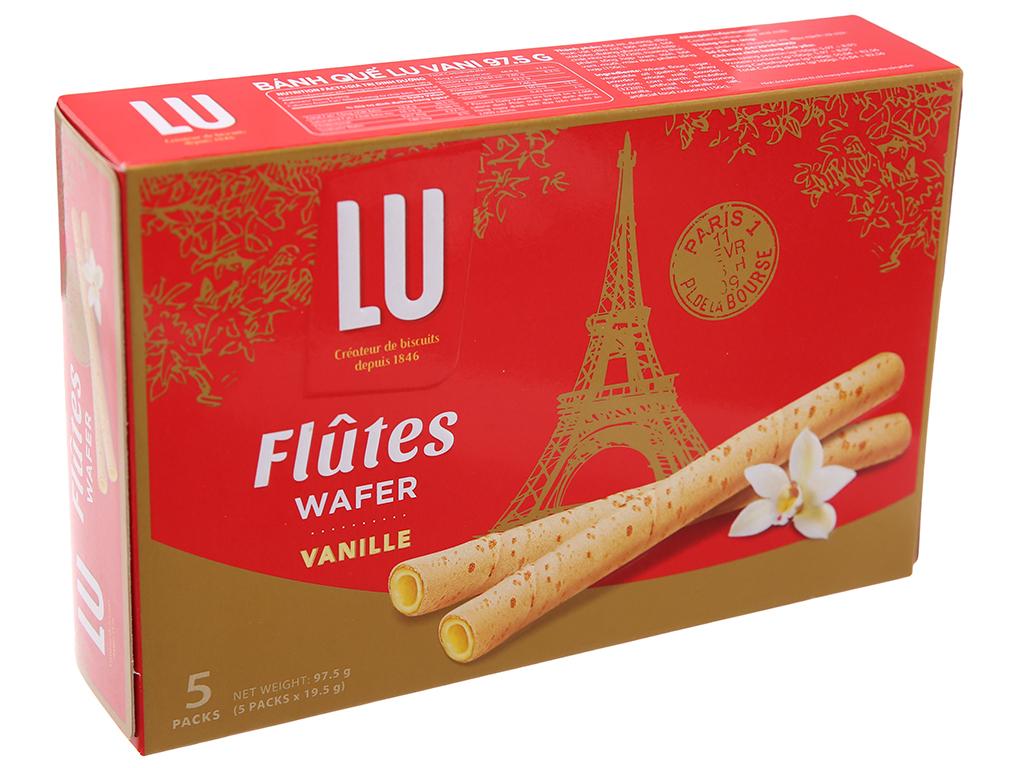 Hộp 5 gói bánh quế vani Flutes Wafer Lu 19.5g 1