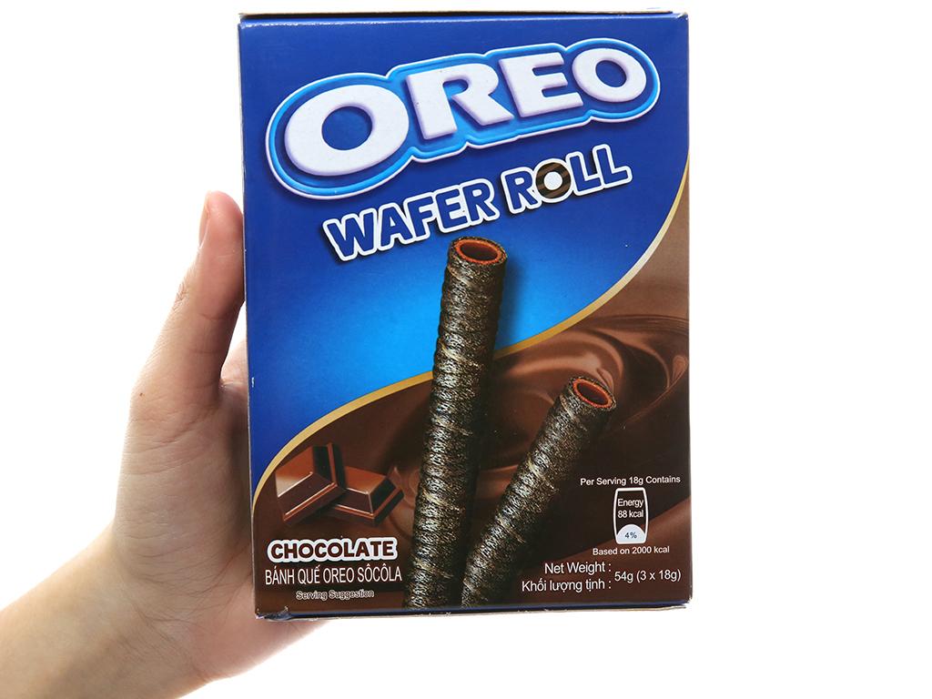 Hộp 3 gói bánh quế sô cô la Wafer Roll Oreo 18g 5