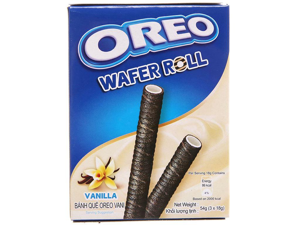 Hộp 3 gói bánh quế vani Wafer Roll Oreo 18g 1