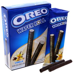 Hộp 3 gói bánh quế vani Wafer Roll Oreo 18g