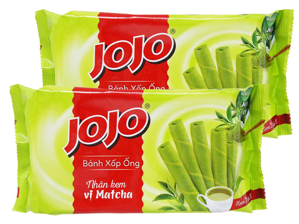 Combo 2 gói bánh xốp ống nhân kem vị matcha Jojo 125g 1