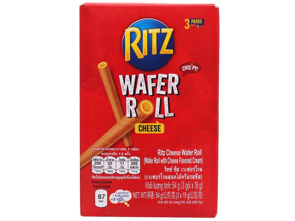 Bánh quế nhân phô mai Ritz hộp 54g 8