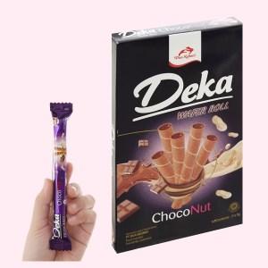 Bánh quế nhân socola đậu phộng Deka Wafer Roll hộp 45g