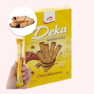 Bánh quế nhân socola chuối Deka Wafer Roll hộp 45g