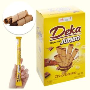 Bánh quế nhân socola chuối Deka Wafer Roll hộp 320g