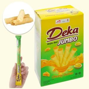 Bánh quế nhân phô mai sầu riêng Deka Wafer Roll hộp 320g