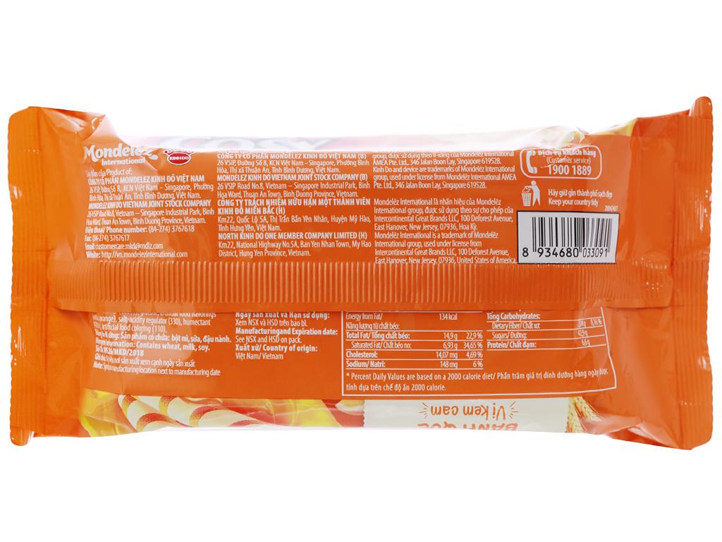 Bánh quế vị kem cam Cosy gói 132g 6