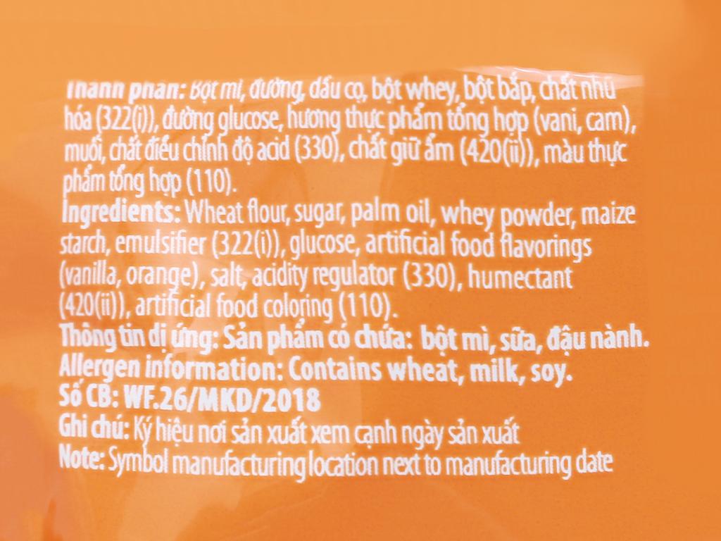 Bánh quế vị kem cam Cosy gói 132g 7