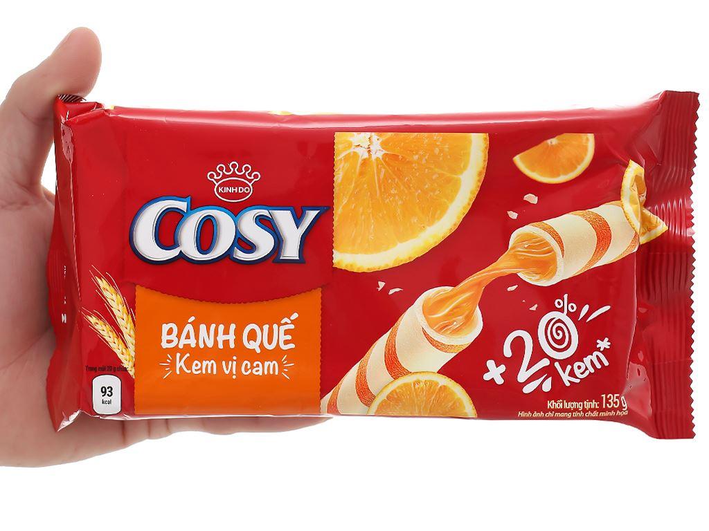 Bánh quế vị kem cam Cosy gói 132g 10