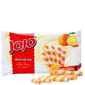 Bánh xốp ống vị kem cam Jojo gói 125g