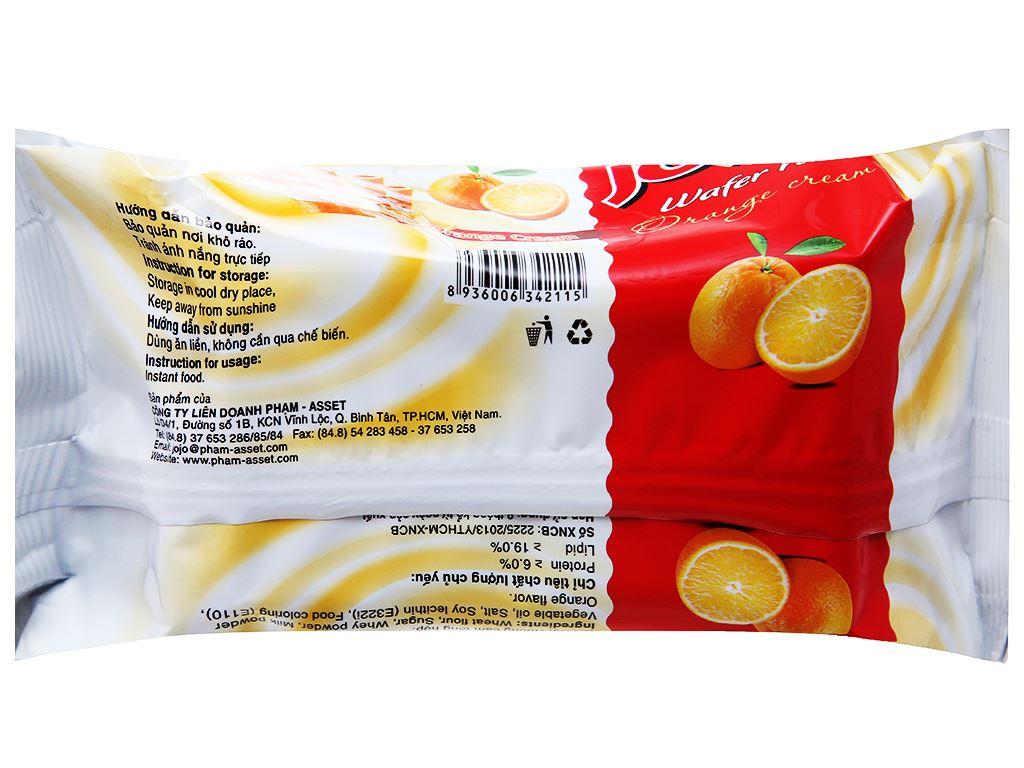 Bánh xốp ống vị kem cam Jojo gói 125g 2