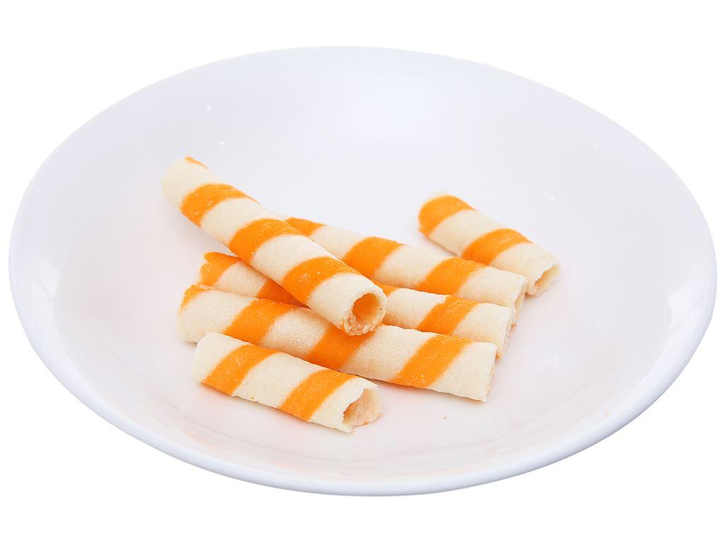 Bánh xốp ống vị kem cam Jojo gói 125g 4