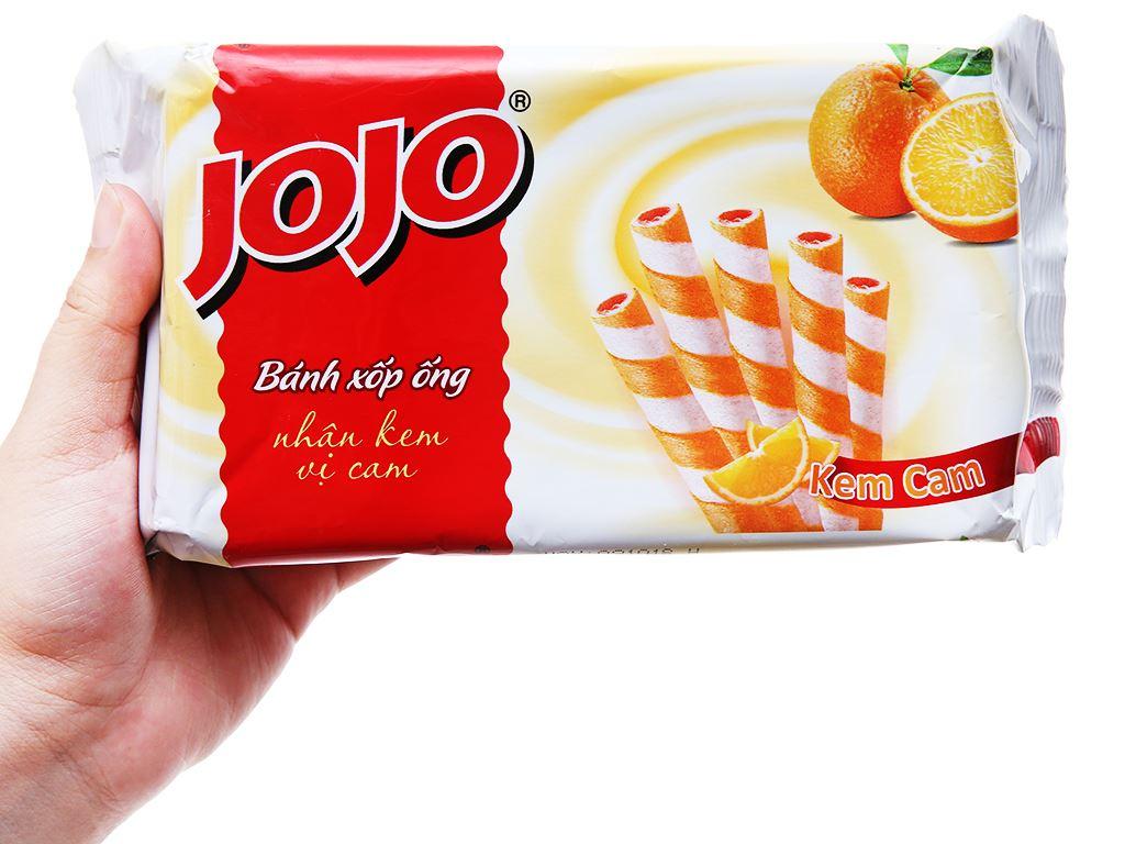 Bánh xốp ống vị kem cam Jojo gói 125g 3