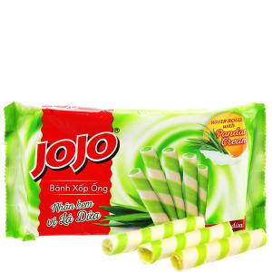 Bánh xốp ống nhân kem vị lá dứa Jojo gói 125g