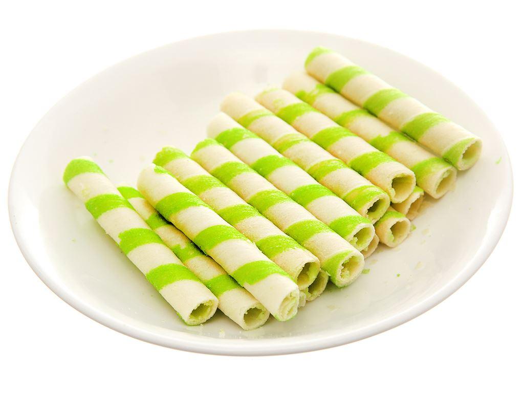 Bánh xốp ống nhân kem vị lá dứa Jojo gói 125g 4