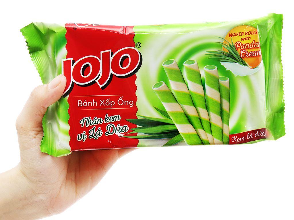 Bánh xốp ống nhân kem vị lá dứa Jojo gói 125g 3